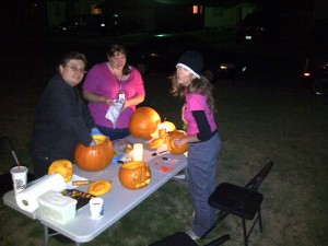 Dawn and Friends Carving